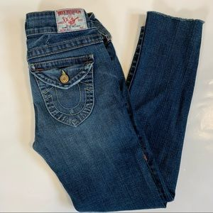 True Religion Becky jeans size 27 ankle cropped